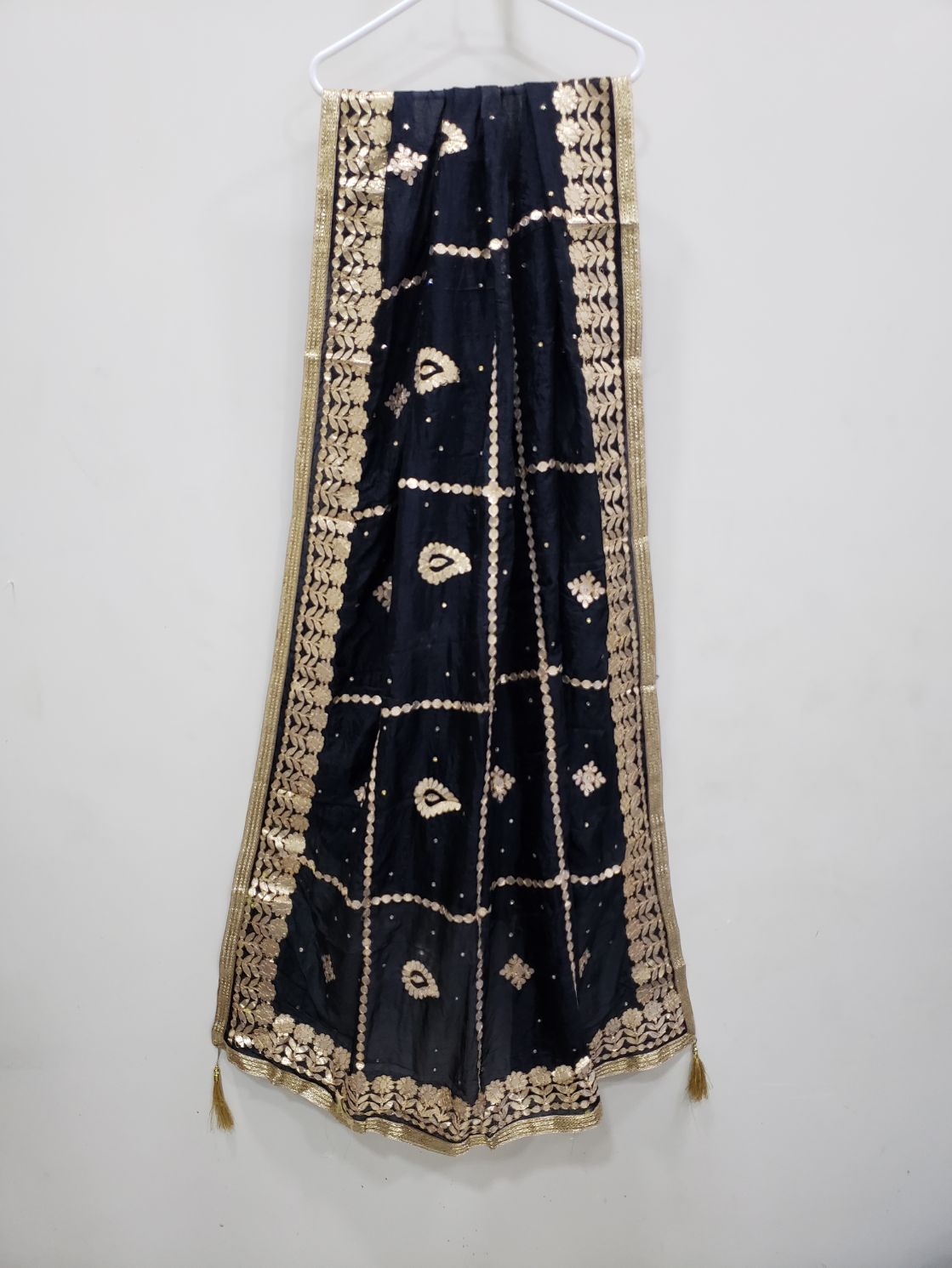 Black Silk Gotta work Dupatta 75557