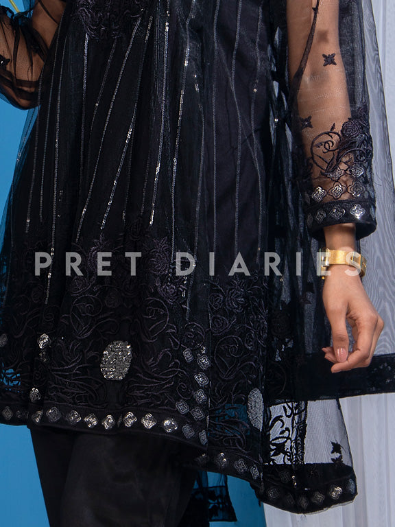 Black Embroidered 3 pc - 52610