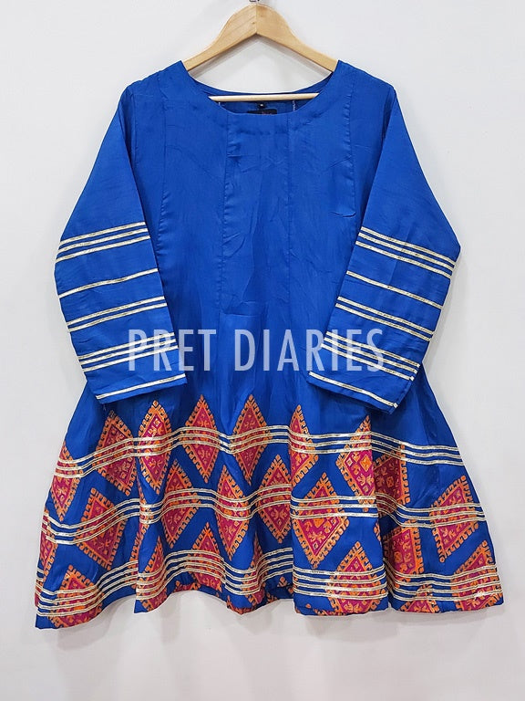 Blue Printed Frock - 52512