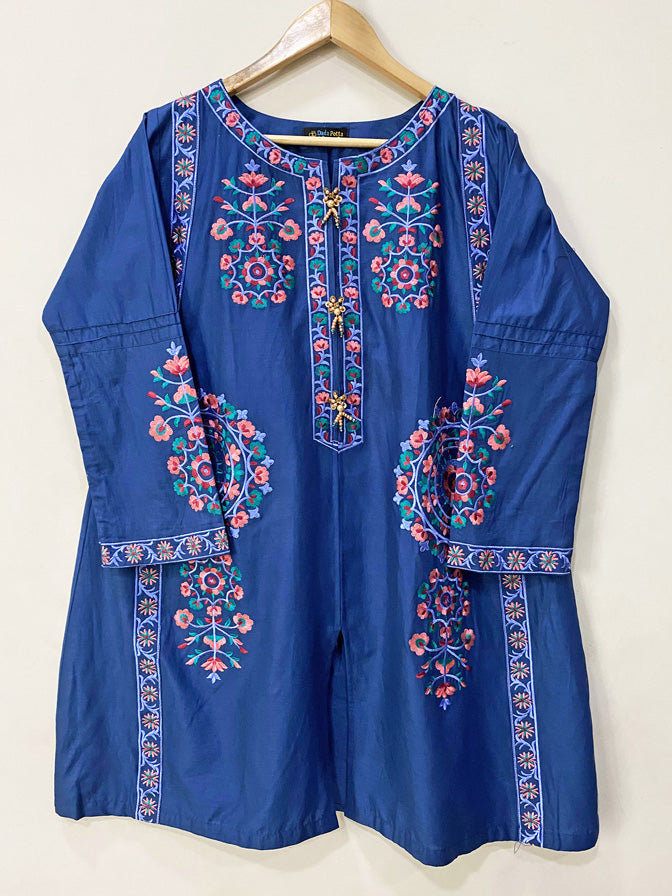 Blue Embroidered Frock - 52961