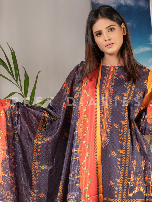 Lawn Embroidered 3 pc - 52970-1