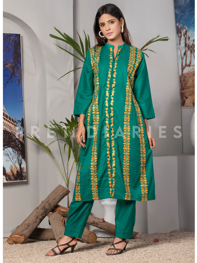 Green Embroidered 2 pc - 53001