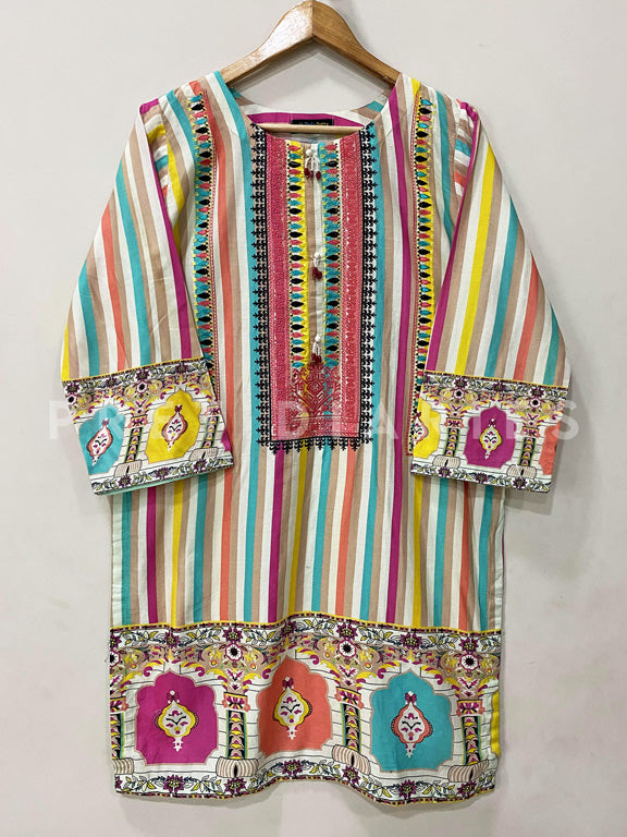 Printed Cotton Kurta - 52941