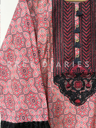 Printed Cotton Kurta - 52903
