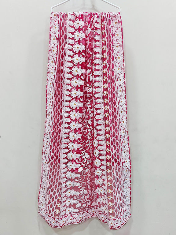 Red Net Dupatta 75577