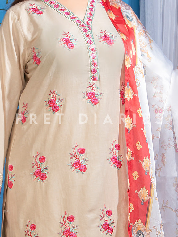 Skin Embroidered 3 pc - 52806