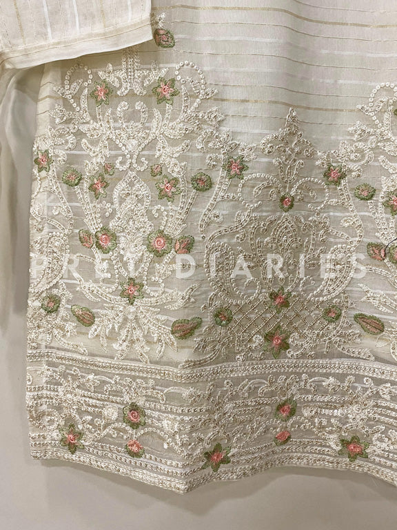 White Embroidered Kurta - 52992