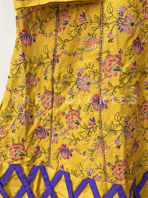 Yellow Embroidered Kurta - 52959