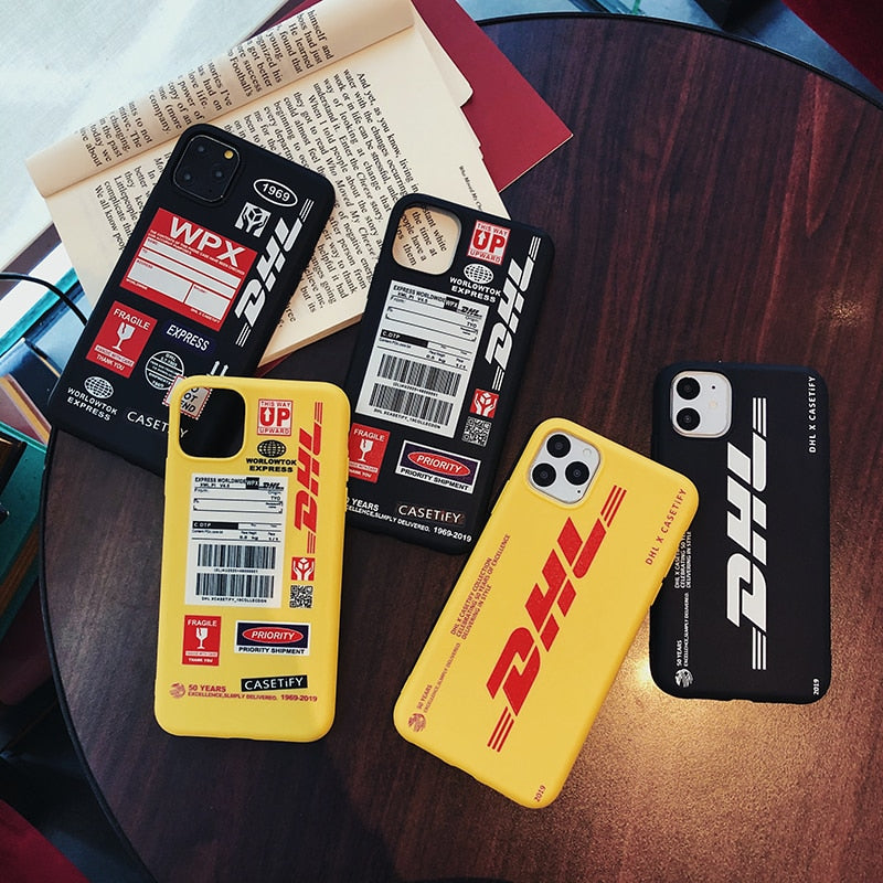 Dhl Express szilikon tok - Iphone 12 mini 11 Pro X Xs Max Xr 8 7 6 6s Plus SE