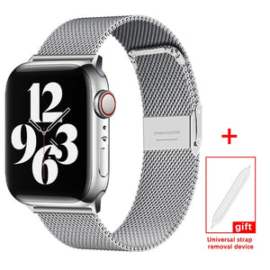 Milanese Stainless Steel Metal for apple watch Watchband 38mm 40mm 42mm 44mm Band Strap for iwatch Bracelet series 5 4 3 2 1
