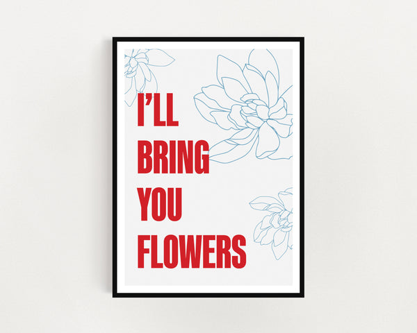 Sweet Female Attitude 'Flowers' Print