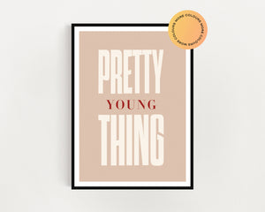 Micheal Jackson 'Pretty Young Thing' Print
