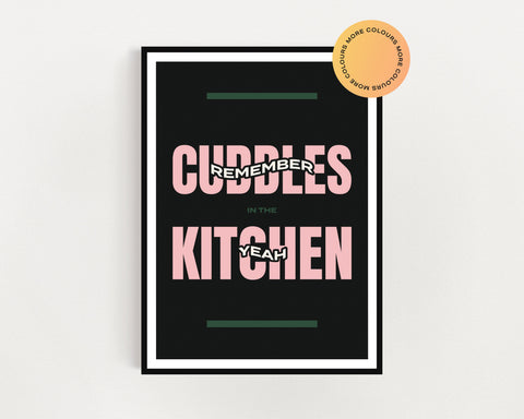 Arctic Monkeys 'Cuddles In The Kitchen' Print