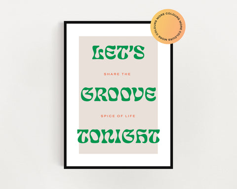 Earth Wind + Fire 'Groove Tonight' Print