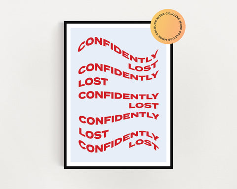 Sabrina Claudio 'Confidently Lost' Print