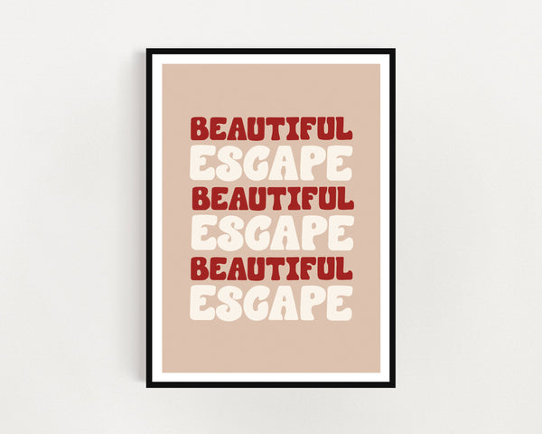 Tom Misch 'Beautiful Escape' Print