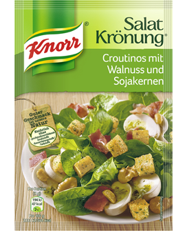 -in USA- Knorr Salat Kronung Croutons with walnuts and soybean seeds- 25 g