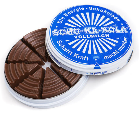 -in USA- Scho-ka-kola Schokakola energy boost milk chocolate-100g