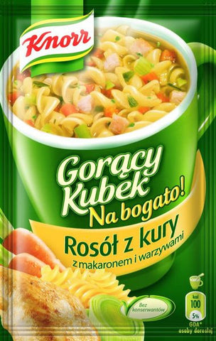 -in USA- Knorr Goracy Kubek Cream of chicken - Instant soup-pack of 5