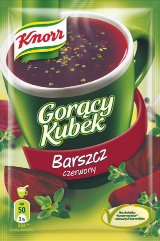 -in USA- Knorr Goracy Kubek Barszcz - Red Beet Soup- Pack of 5
