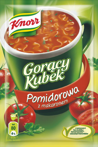 -in USA- Knorr Goracy Kubek Tomato soup with noodles- Pack of 5