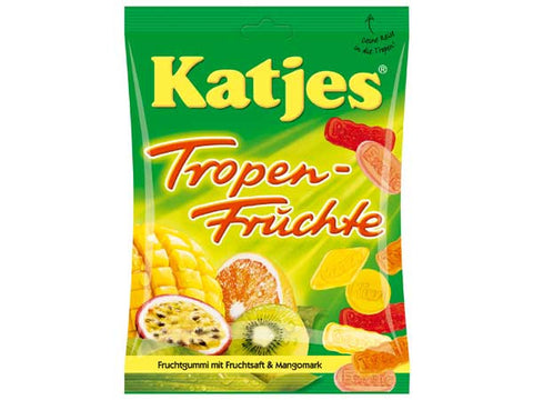 -in USA- Katjes Tropical Fruit - Pack of 1 -200g