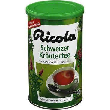 -in USA- Ricola DAY herbal black granulated tea in a can -Made in Germany