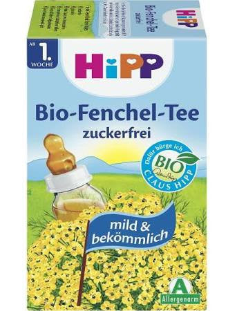 -in USA- Organic HiPP baby tea- Fennel Tea for babies from 1st week of life-