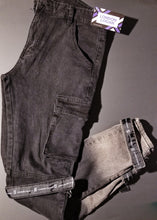 Load image into Gallery viewer, Black Ombre Denim with straps
