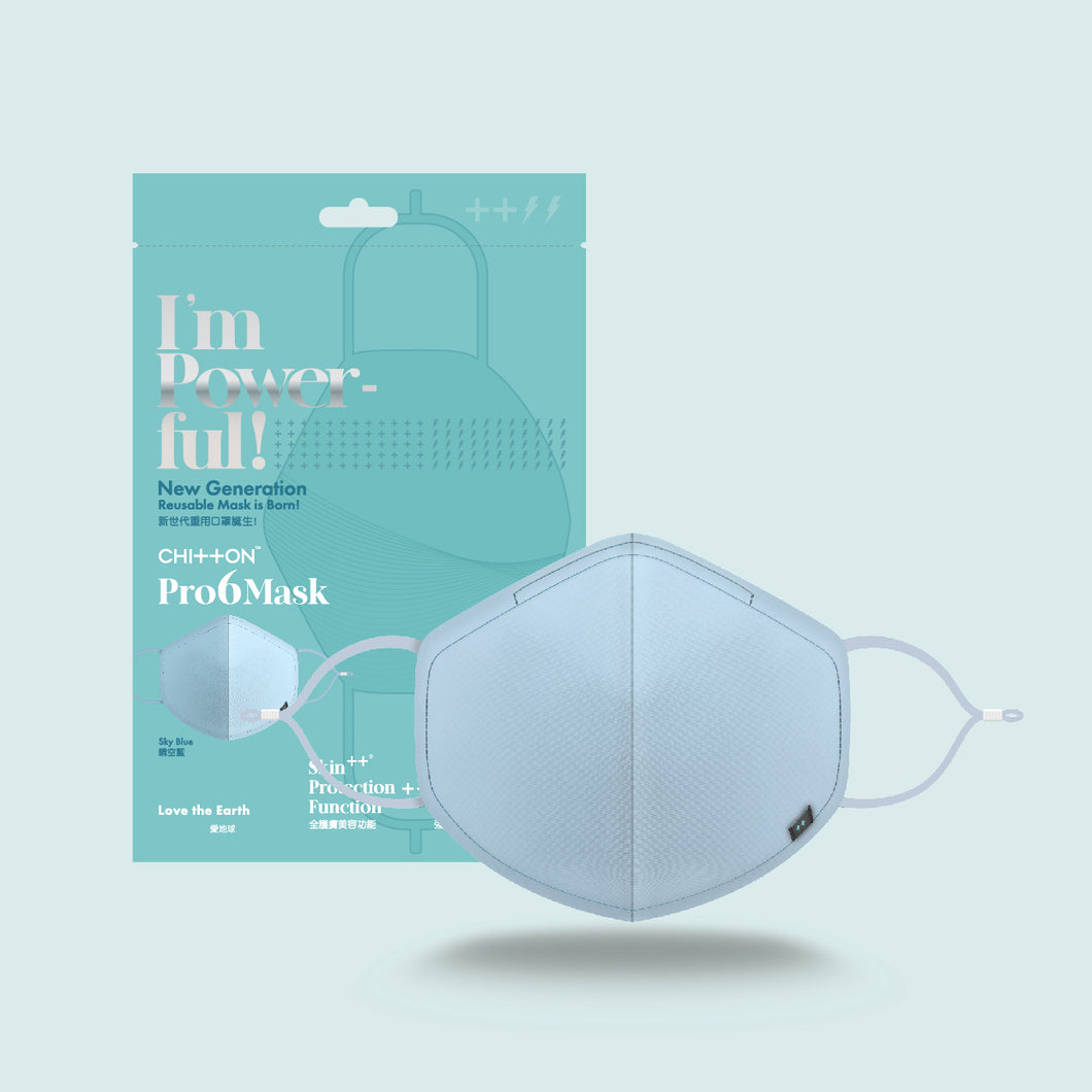 Pro6Mask - Clear Sky Blue (Individual Pack)