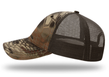 Load image into Gallery viewer, KILLSHOT Life Garment Washed Camo Trucker - Kryptek Highlander / Brown