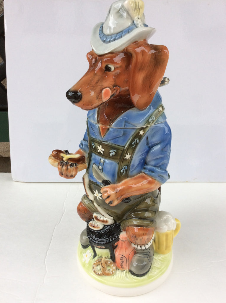 Bavarian Beer Stein - Dachshund.  1 Liter.  10th edition in the man's best friend Series.  Limited Edition.