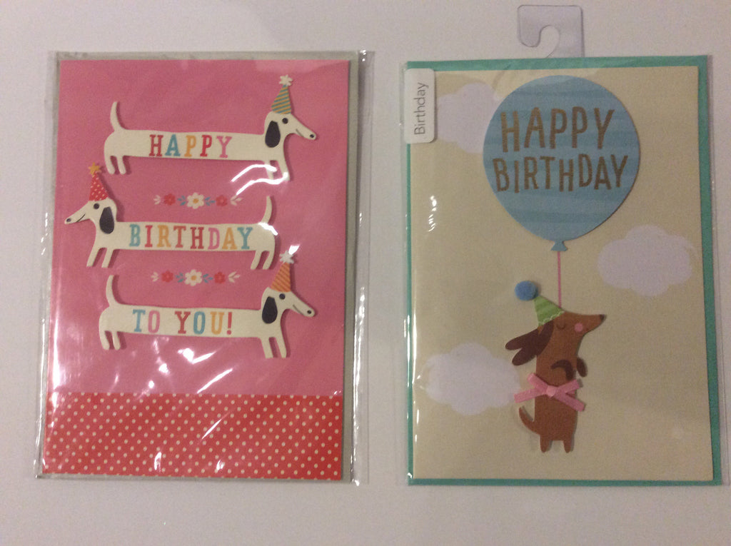 Birthday cards (set of 2)