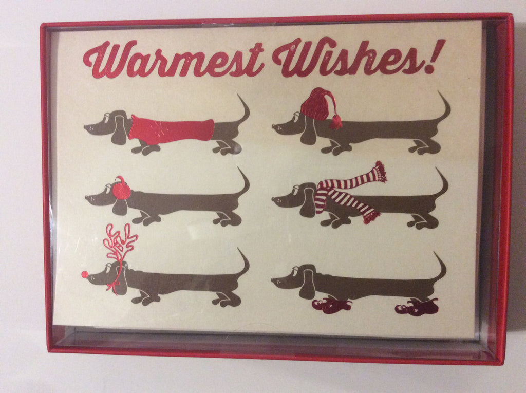 Holiday greeting cards -dachshunds