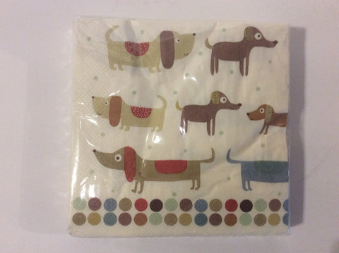 kitchen dachshund napkins( 2 package minimum)