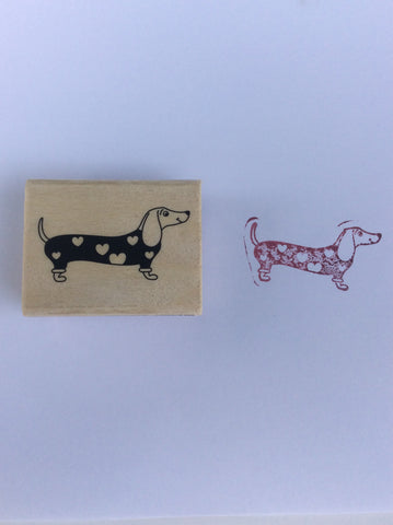 Stamp , rubber stamp on wood base