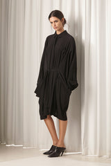 Ricochet NZ Fashion Designer Clothing AW18 Amoroi Dress Oversize Shirtdress Matte Black Hardware Made in NZ