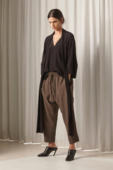 Ricochet NZ Fashion Designer Clothing AW18 Ellington Pant Bamboo Viscose Dropped Crutch Cropped Wide Leg Made in NZ