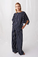 Ricochet NZ Fashion Designer Clothing Boutique SS18 Ha Long Pant Stripe Made in NZ