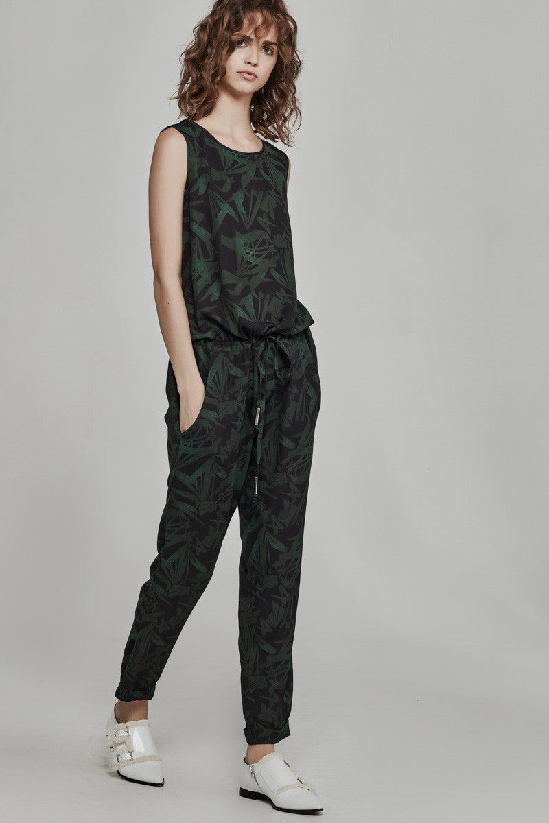 Ricochet-Clothing-SS16/17-NZ-Jalen-Jumpsuit-Ink-Flax-Print