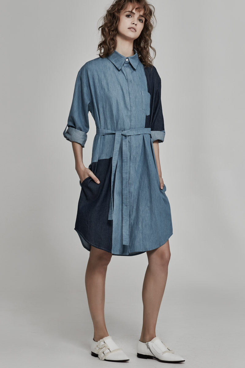 Ricochet-Clothing-SS16/17-NZ-Jean-Patched-Denim-Dress