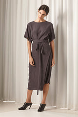 Ricochet NZ Fashion Designer Clothing AW18 Jil Dress Wrap Dress with Ties Made in NZ