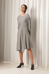 Ricochet NZ Fashion Designer Clothing AW18 Martinique Dress Japanese Silk Gingham Made in NZ