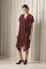 Ricochet NZ Fashion Designer Clothing AW18 Natalie Dress Kimono Wrap Front Dress Made in NZ