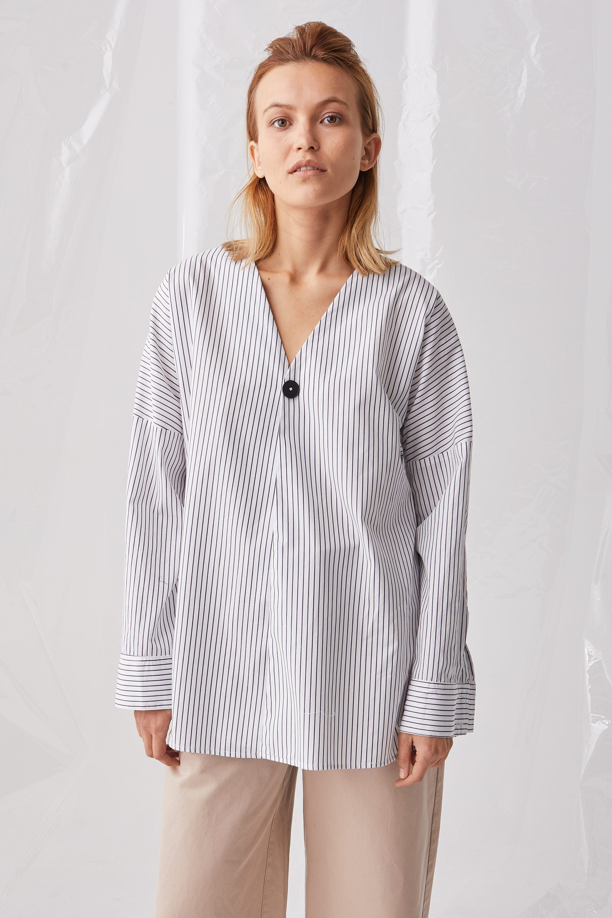 Ricochet NZ Fashion Designer Clothing Boutique SS18 Ako Shirt Black White Stripe Made in NZ