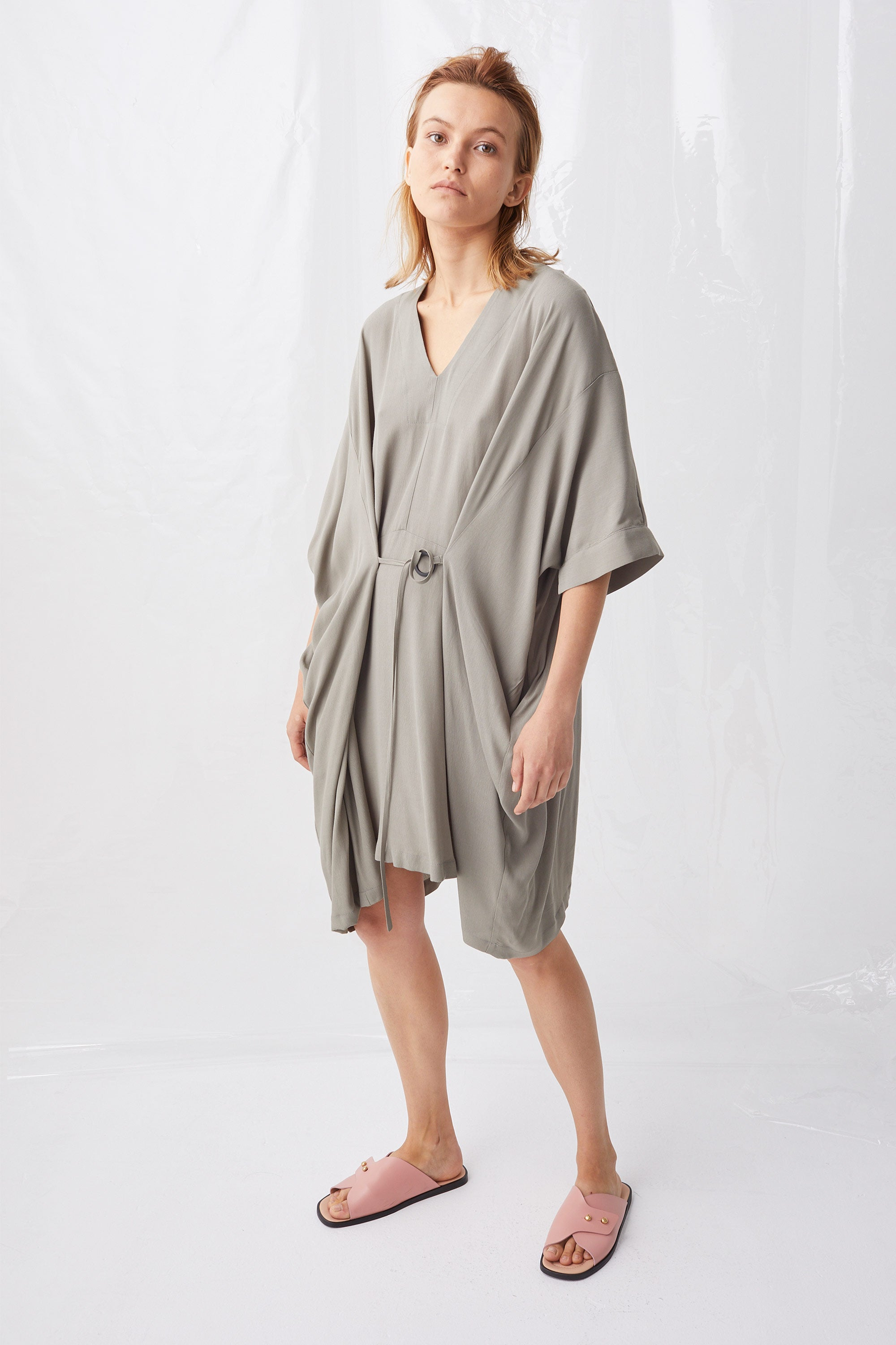 Ricochet NZ Fashion Designer Clothing Boutique SS18 Anda Dress Viscose Crepe Oversize Made in NZ