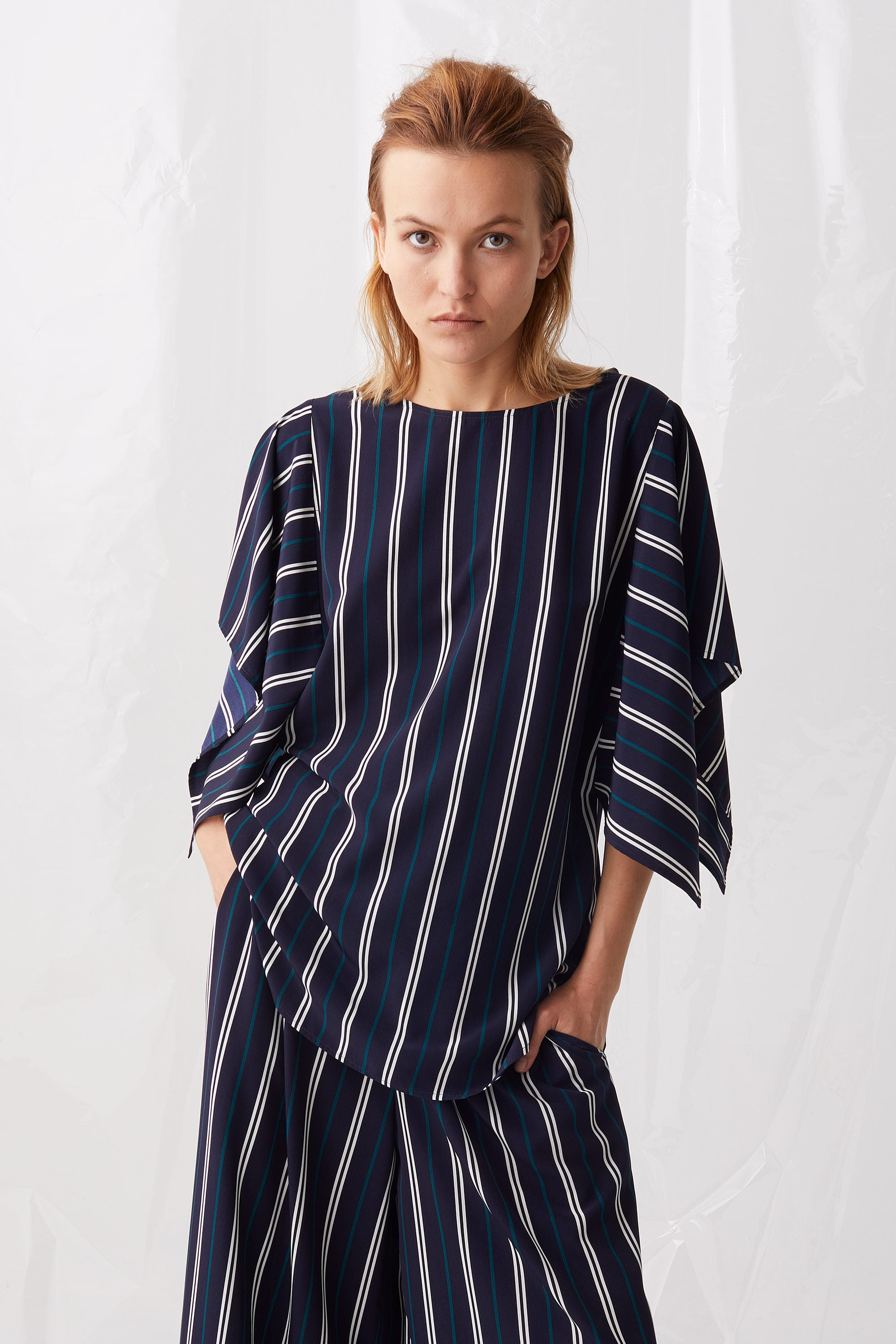 Ricochet NZ Fashion Designer Clothing Boutique SS18 Junko Top Stripe Made in NZ