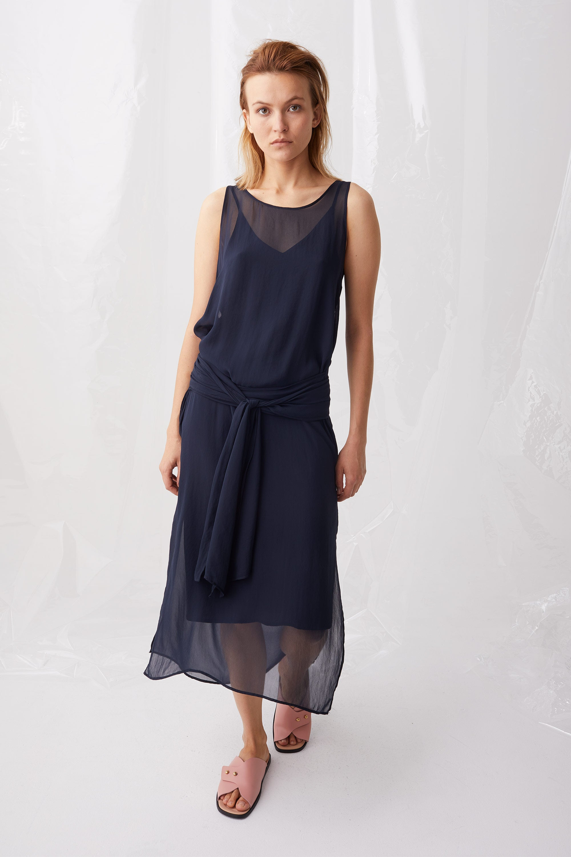 Ricochet NZ Fashion Designer Clothing Boutique SS18 Numazu Dress Midnight Chiffon Made in NZ