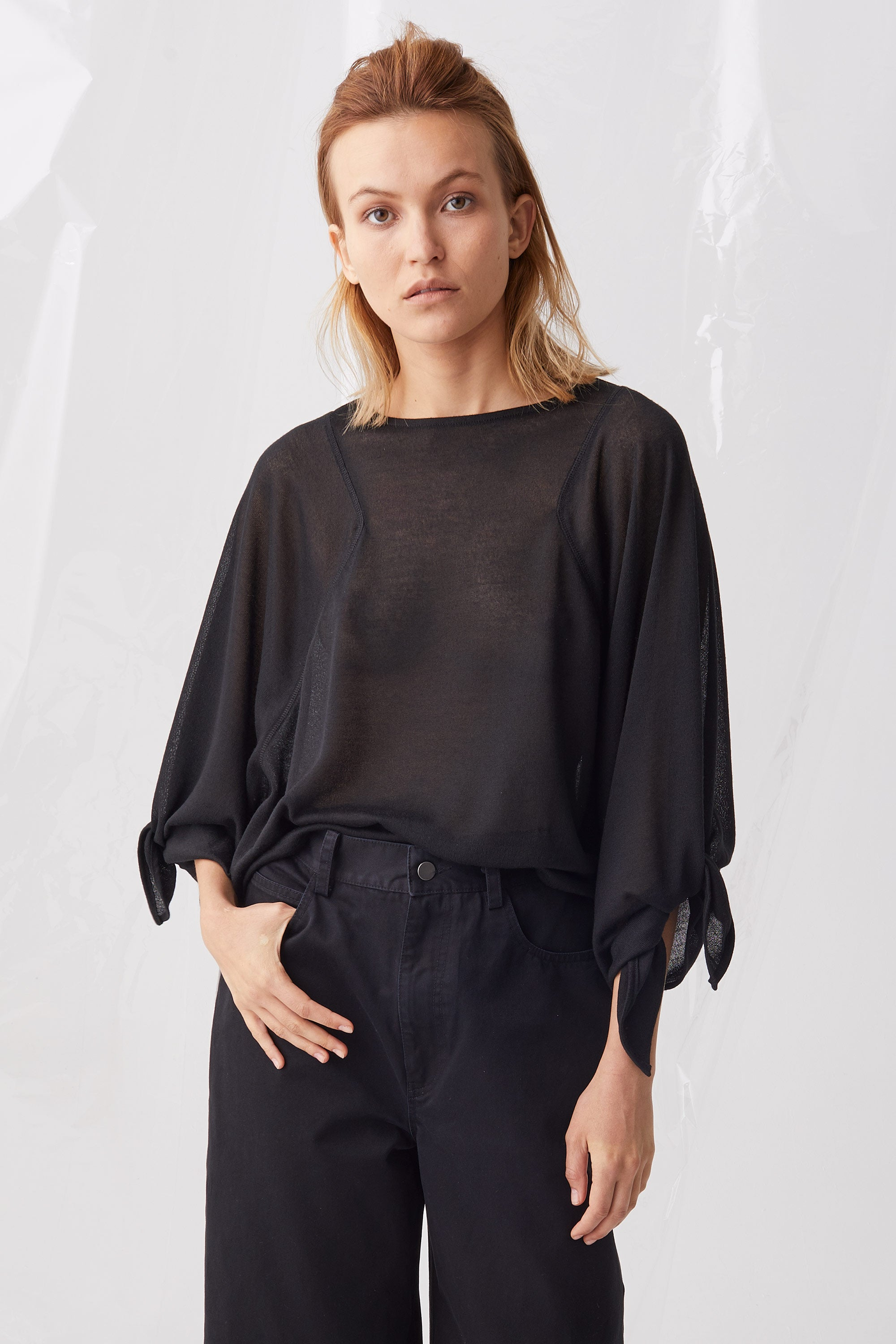 Ricochet NZ Fashion Designer Clothing Boutique SS18 Nuzu Top Rie Sleeve Made in NZ