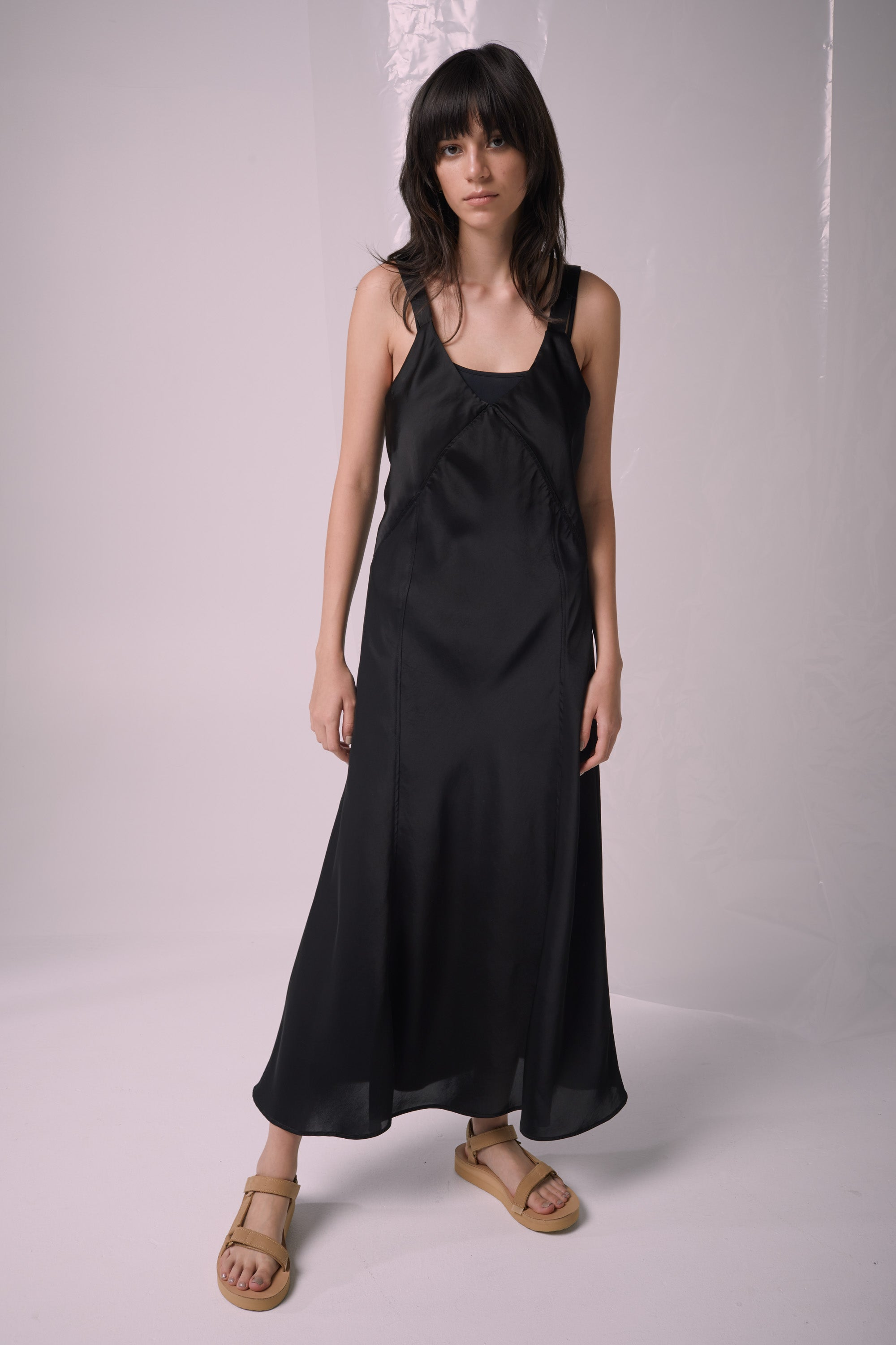 Ricochet NZ Fashion Designer Clothing Boutique SS19  Made in NZ Atmosphere Dress Black